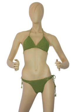 Crochet Green Bikini Set