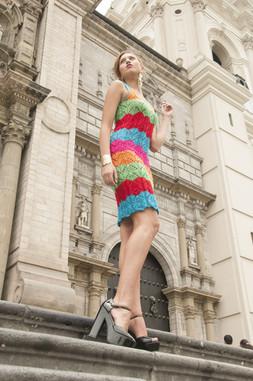 Knit Colorful Dress