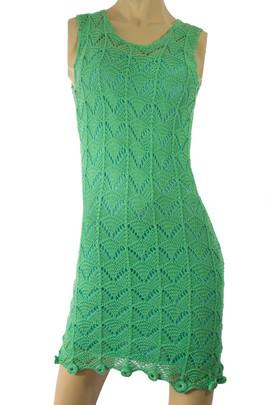 Knit Green Dress Pima/Bamboo