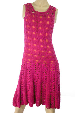 Handmade Knit Pink Dress