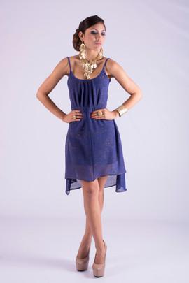 Mesh Knit Dress Pleats Liner