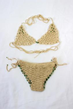 Crochet Beige Bikini Set