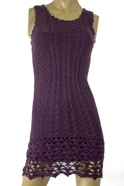Handmade Knit Purple Dress