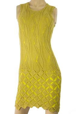 Handmade Knit Yellow Dress