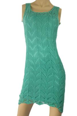 Knit Green Dress Peruvian Pima Cotton