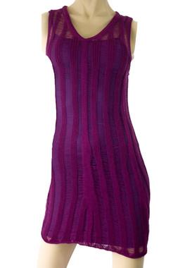 Knit Distressed Mini Dress