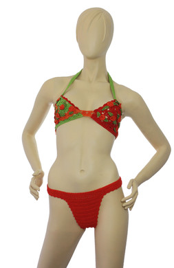 Crochet Orange Bikini Set