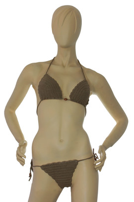 Crochet Gold Bikini Set