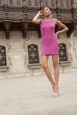 Knit Fuchsia Dress