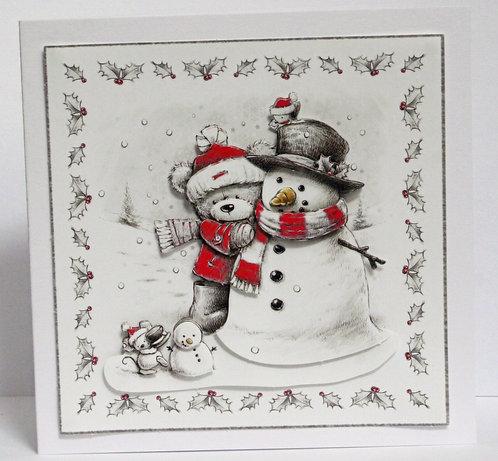 Bear With Snowman