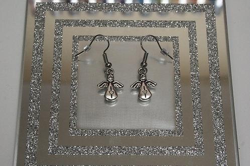 Christmas Tree Angel Earrings