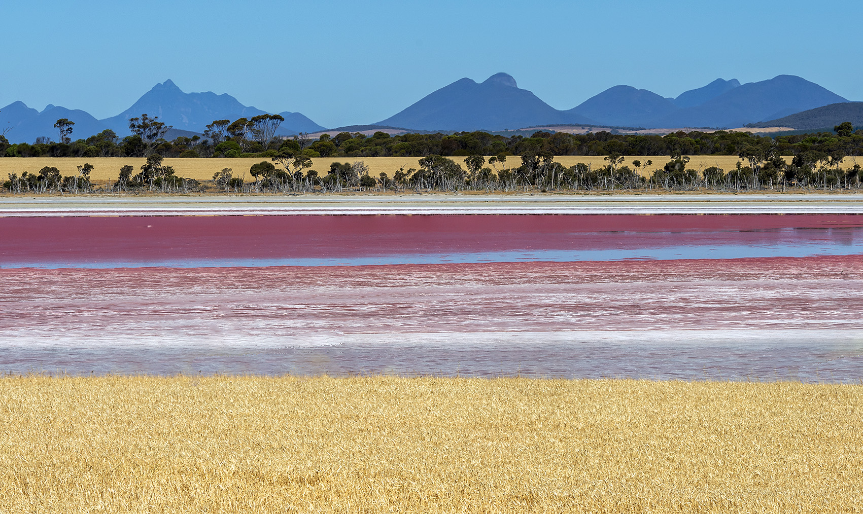 Pink Lake Stirlings wheat stack