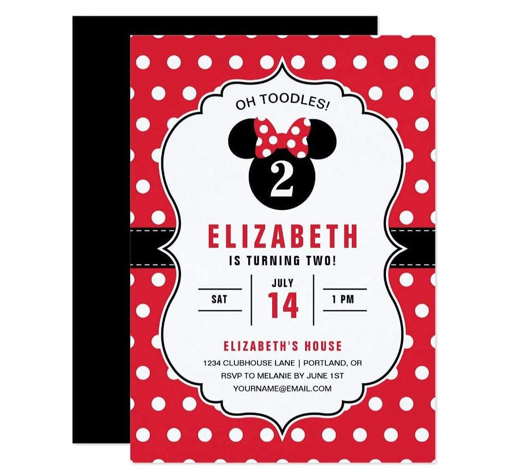 Micky mouse birthday invitations