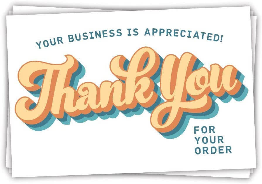 thank you for your business notes