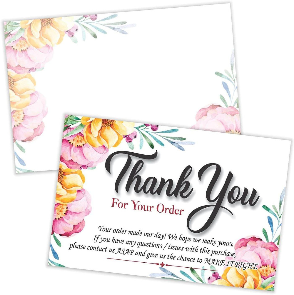 thank you notes to customers