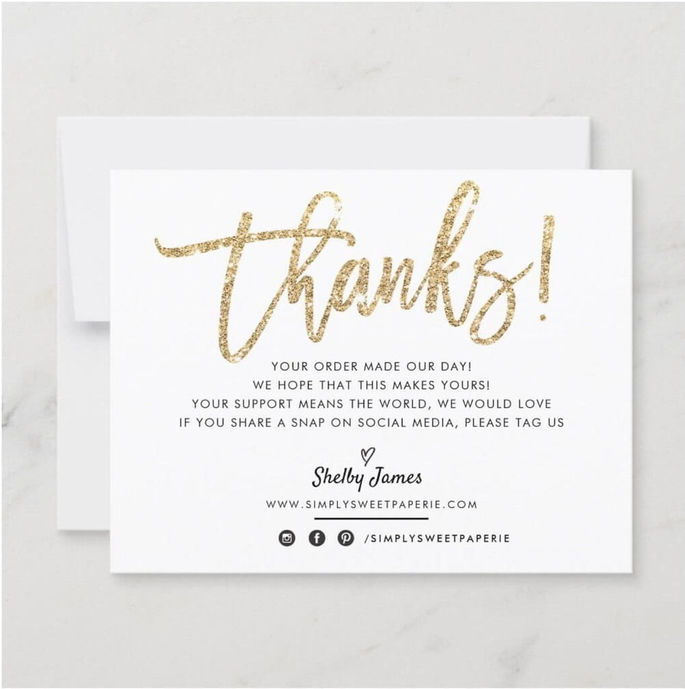 thank you notes for business