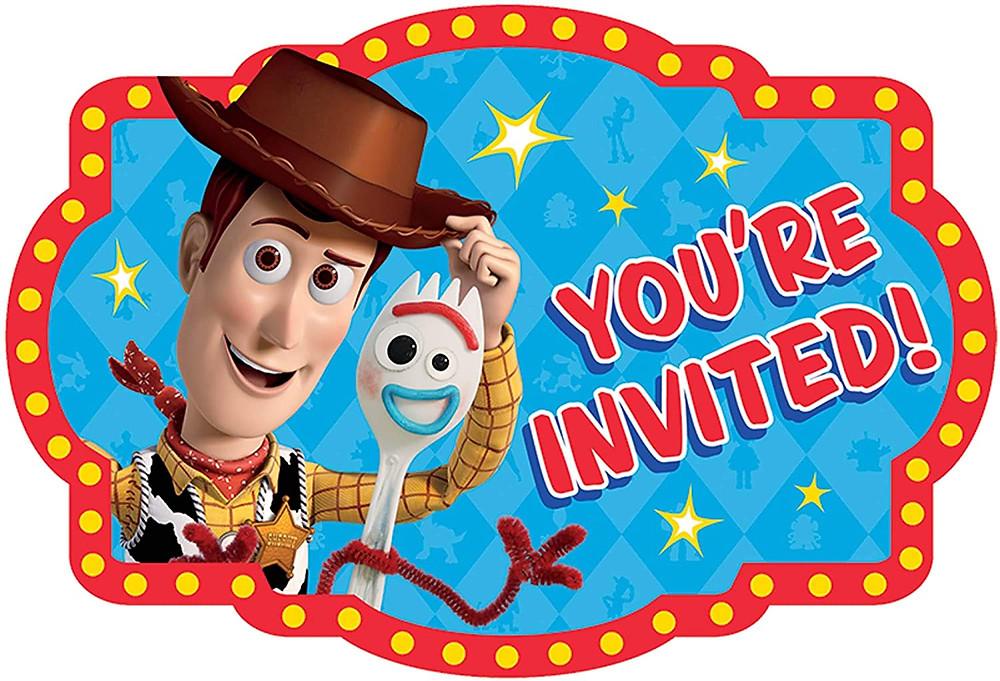 toy story invitations