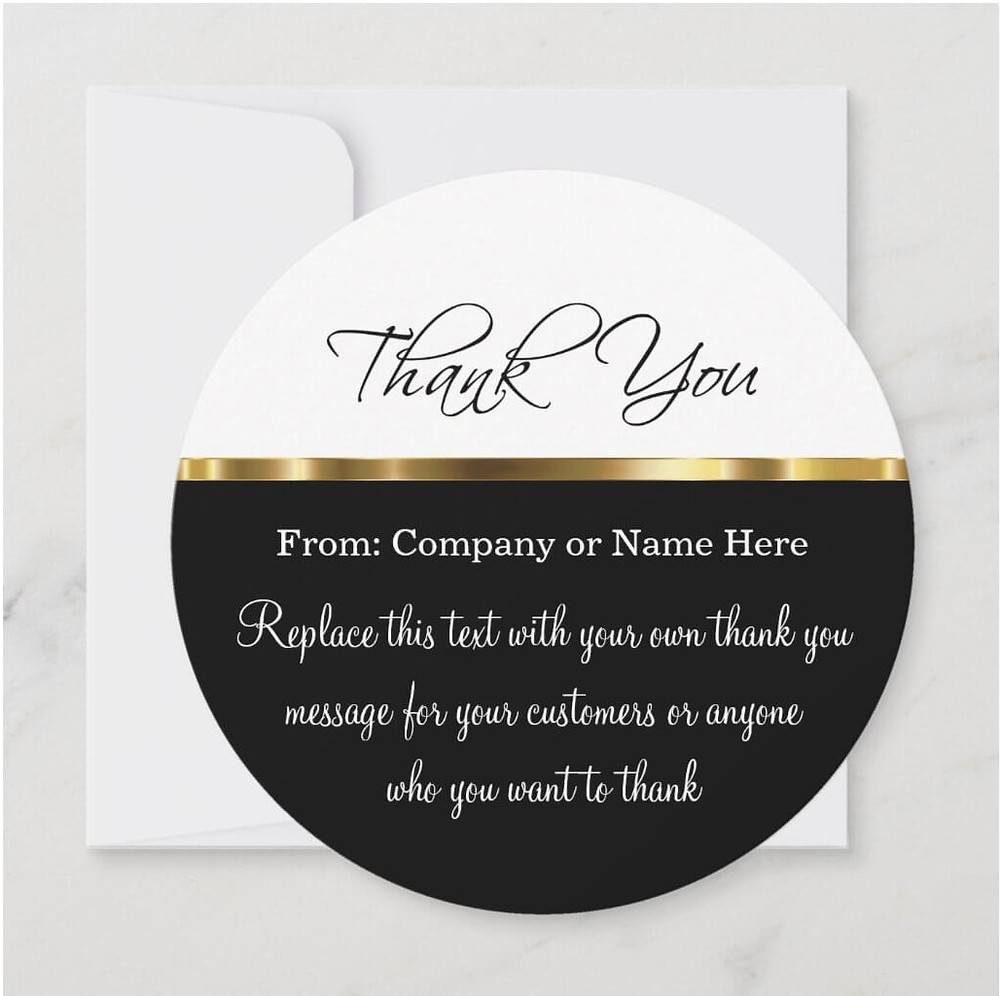 thank you notes in business