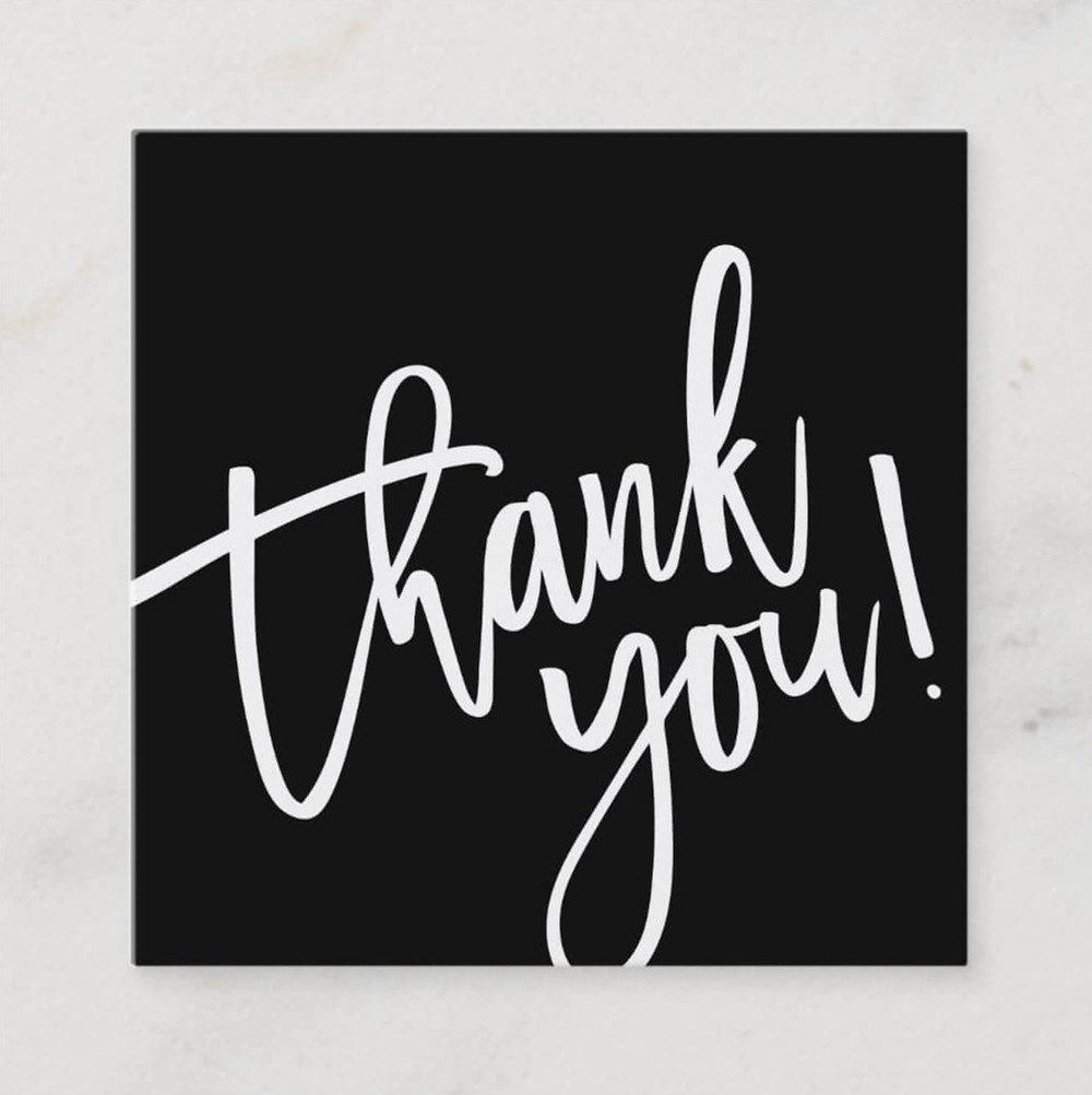 thank you cards for business
