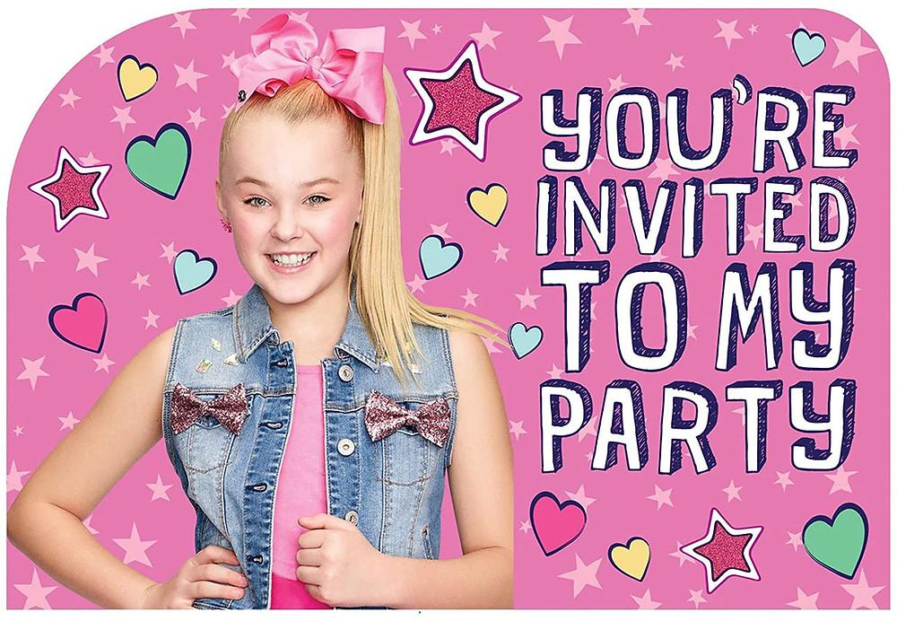 JoJo Siwa birthday invites
