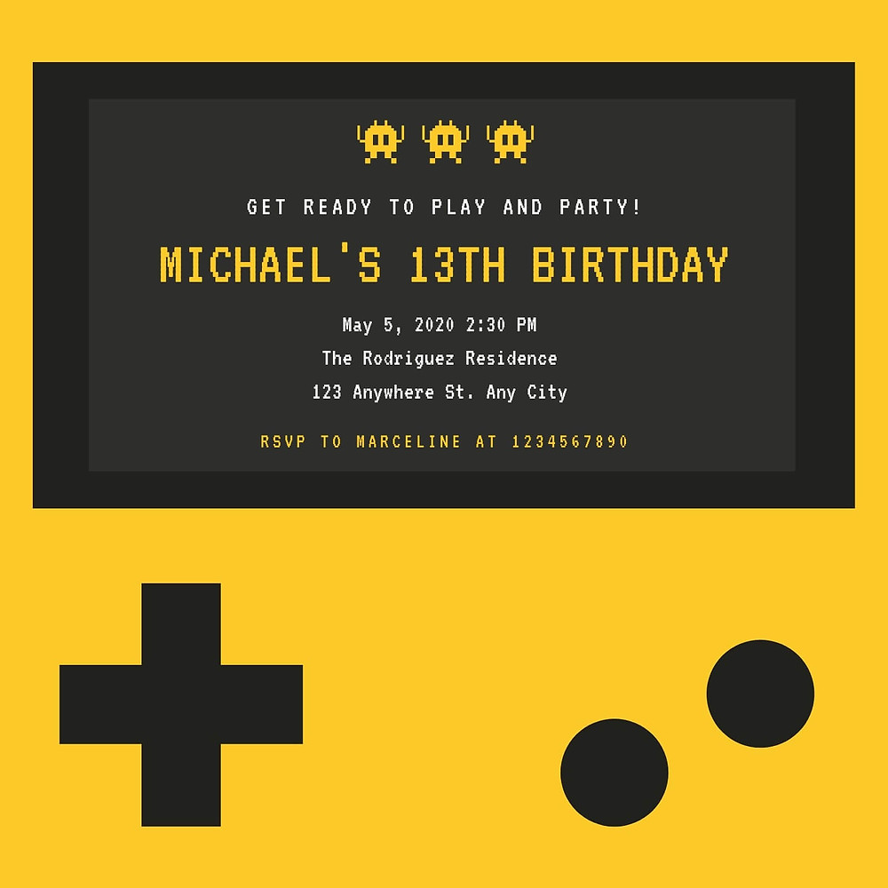 virtual party invites