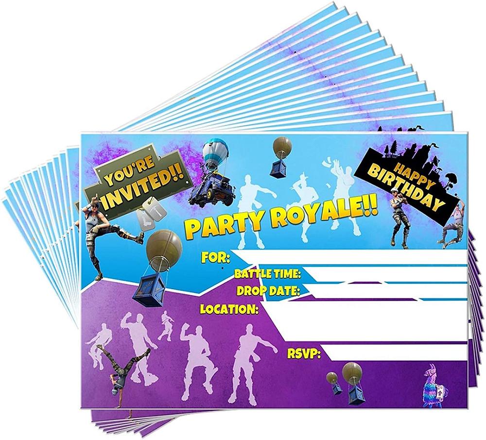 fornite birthday invites