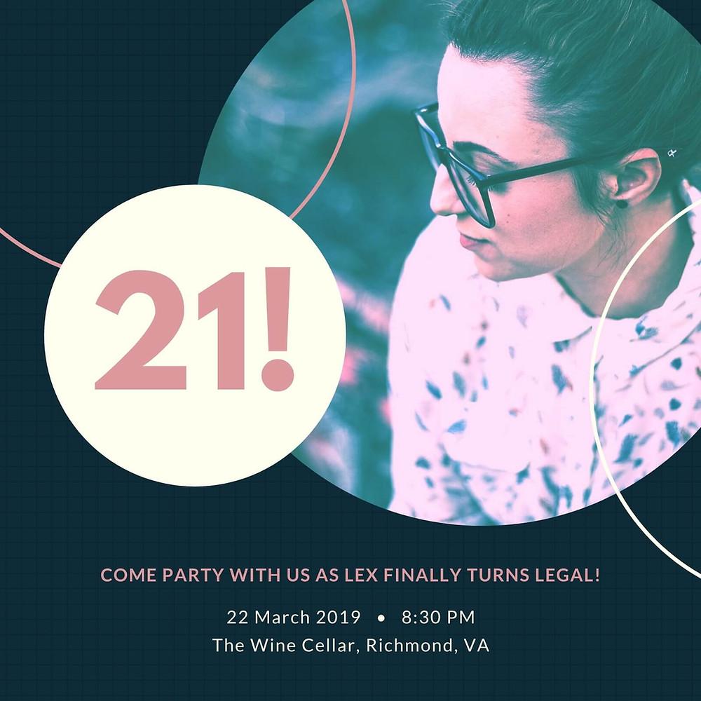21st birthday invites
