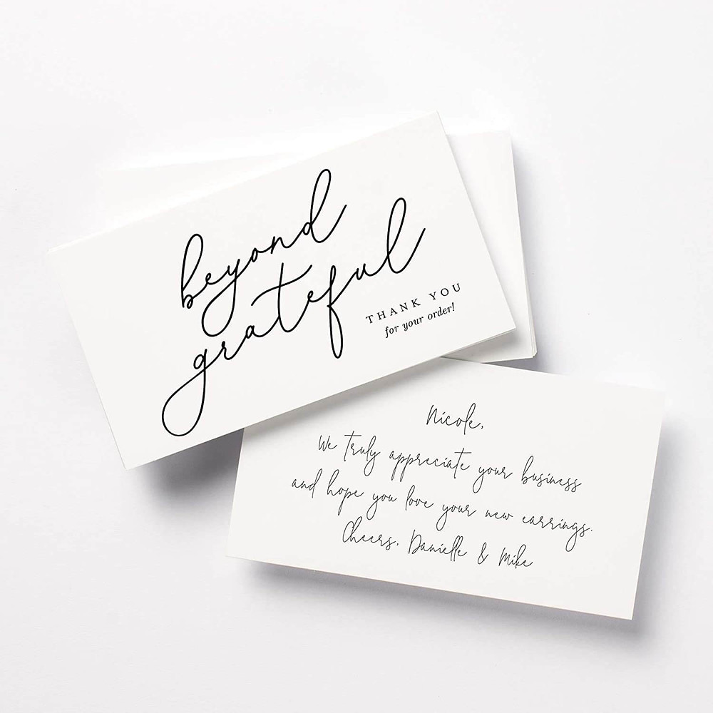 small business thank you cards