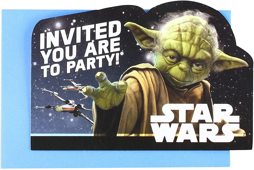 star wars birthday invites