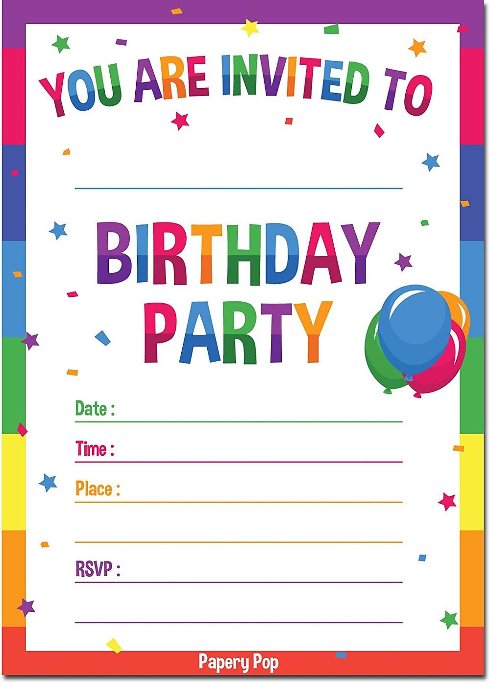 boy birthday invites