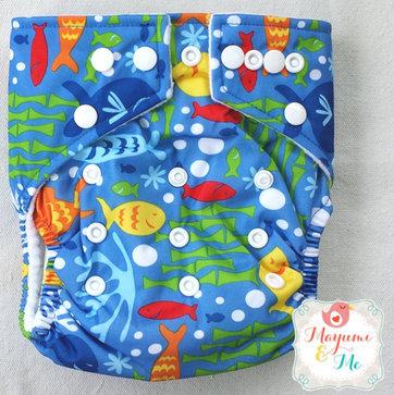 Babyland Bright Fish Diaper