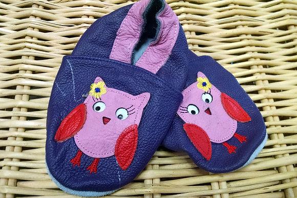 Purple Owl Soft Shoes