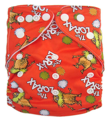 Orange Lorax Pocket Diaper