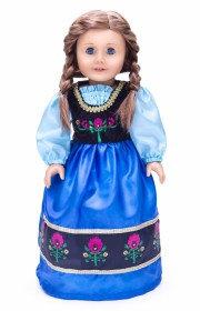 Doll Dress Scandinavian Princess