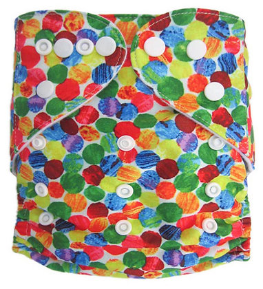Caterpillar Dots Pocket Diaper