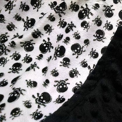 Skulls & Black Minky Baby Blanket