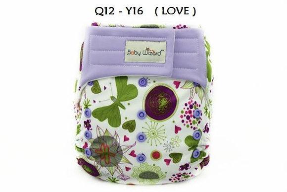 Green Purple Garden Suedecloth Diaper