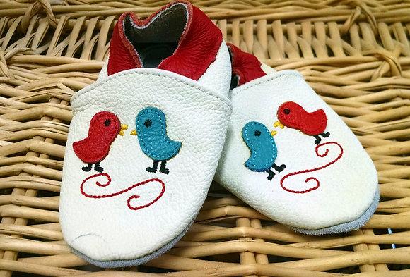 White Birds Soft Shoes
