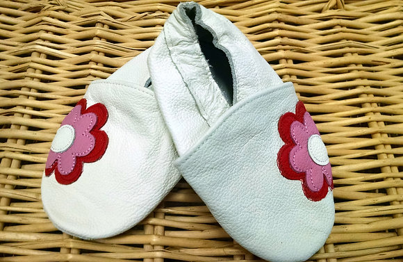 White Flower Soft Shoes