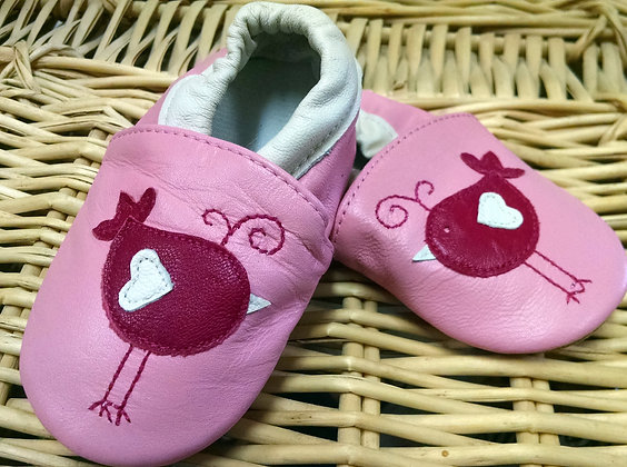 Pink Birds Soft Shoes