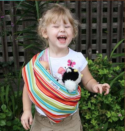 Caribbean Stripe Child's Doll Sling