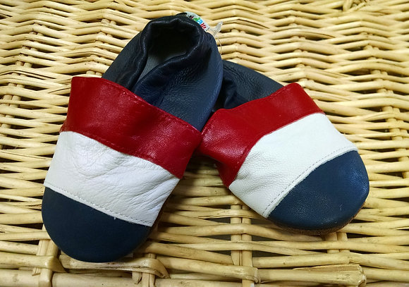 Red White Blue Stripe Soft Shoes