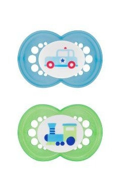 MAM Pearl Pacifiers 2 Count - Train