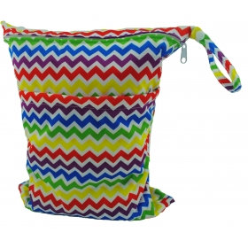 Multi Color Chevron Small Wet/Dry Bag