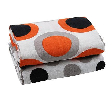 Oliver Orange Muslin Blankets