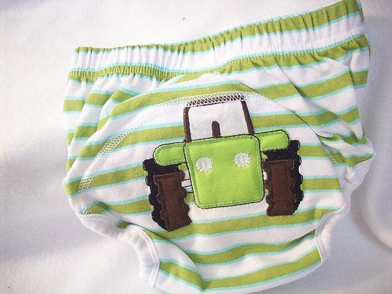 Babyfriend Green Tractor Training Pants