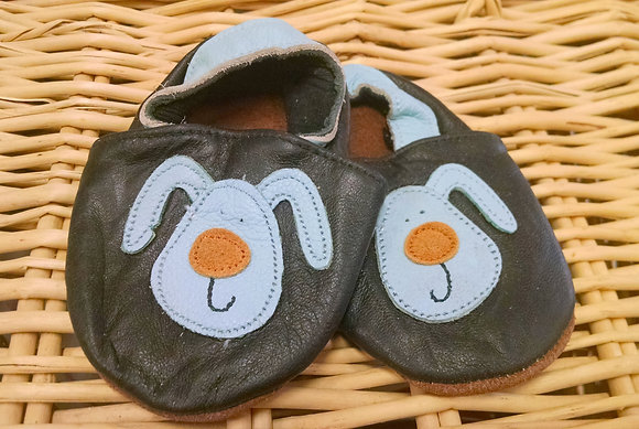 Blue Dog Brown Nose Soft Shoes