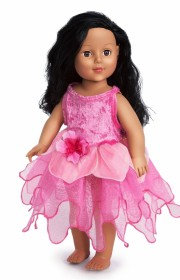 Doll Hot Pink Tulip Fairy Dress