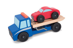 Flatbed Tow Truck Wooden Toy Set MD4543