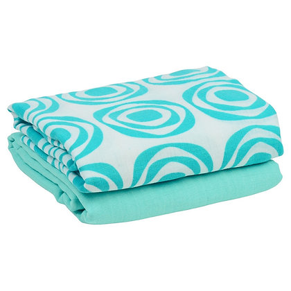 Aqua & Turquoise Dream Muslin Blankets